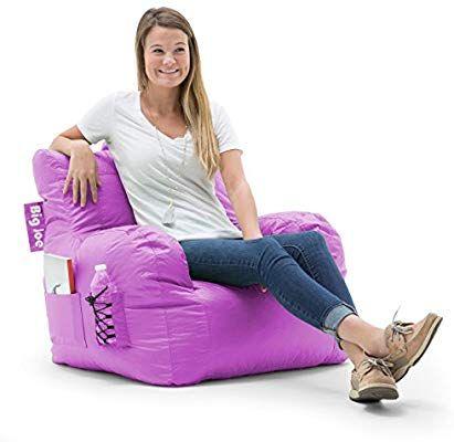 Amazon Com Big Joe 645624 Dorm Bean Bag Chair Radiant Orchid