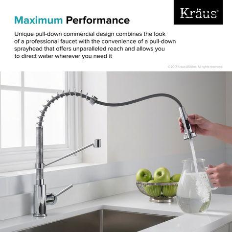 Kraus KPF 1610 | Faucet, Retractable