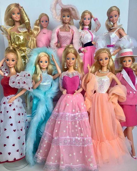 80's Barbies ✨💕 . . . . #barbie #mattel #barbiecollector #childhoodtoys #goldenage #80sbarbie #80s #glam #barbiecollection #vintagebarbie…