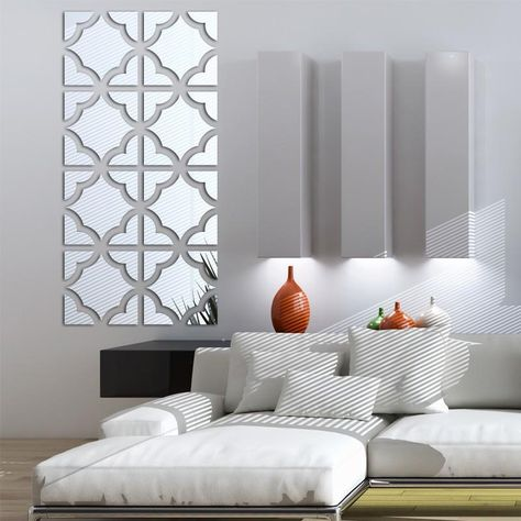 geometric mirrored acrylic wall sticker decor in 2019 | home decor