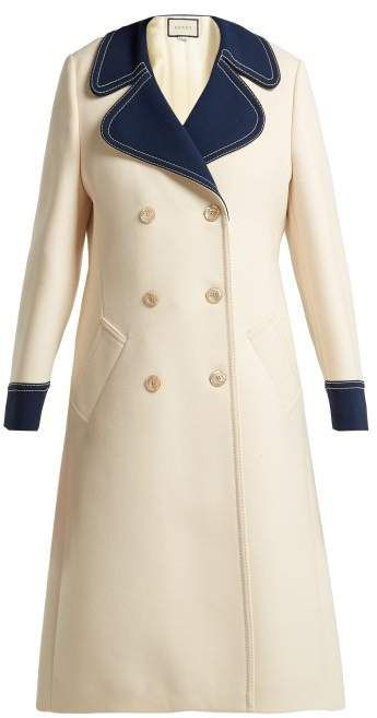 Gucci , Gardenia Wool Coat , Womens , White, 2020