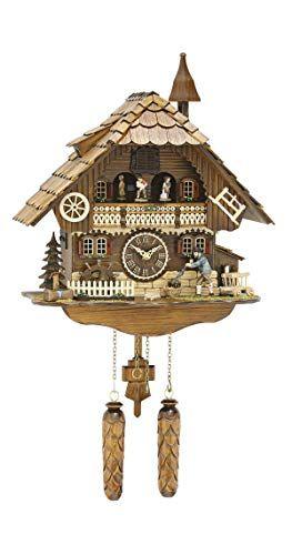 Trenkle Quartz Cuckoo Clock Moving Dancers Wanderer Mill Wheel In 2020 Cuckoo Clock Clock Cuckoo