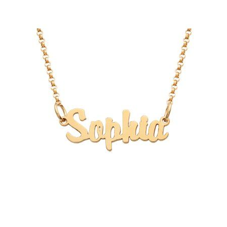 Personalized Planet Personalized Gold Over Sterling Silver Girls Mini Nameplate Necklace Walmart Com In 2020 Sterling Silver Name Necklace Name Necklace Jewelry