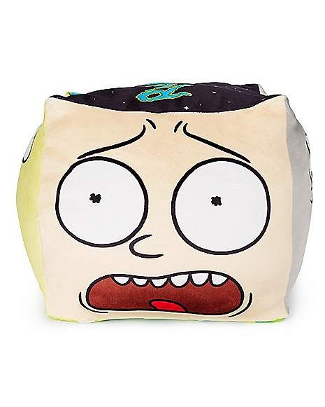 cube rick and morty cloud pillow