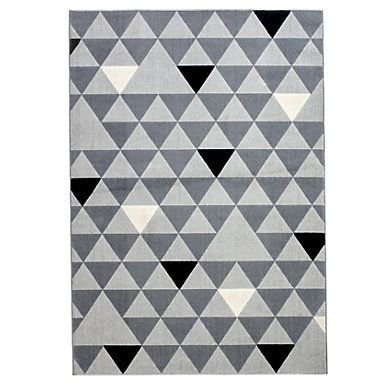 tapis 160x230 geo gris noir but