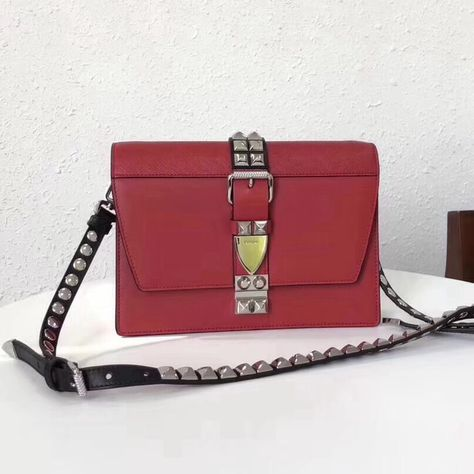 eb71b08b01 Prada Elektra Calf Leather Bag 1BD120 Red 2018