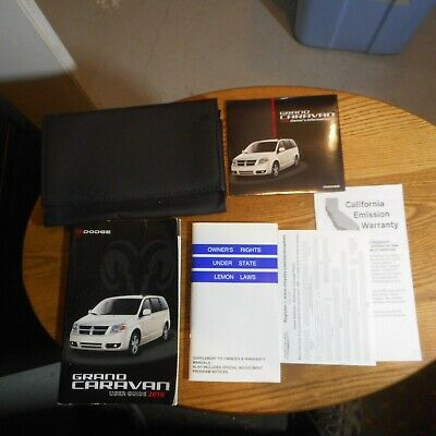 Advertisement Ebay 2010 Dodge Grand Caravan Owners Manual W Case