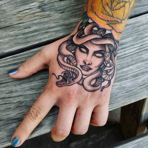 My new Medusa tattoo done by Chelsea at fade to Black tattoos (fort Worth)