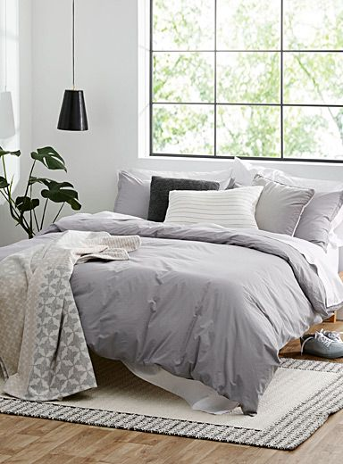 Essential Solid Duvet Cover Set In 2020 Solid Duvet Duvet Cover