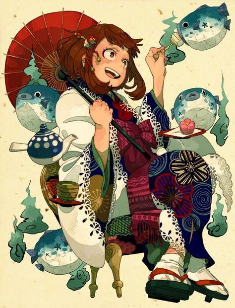 All Might Toshinori Yagi Uraraka Ochako Tsuyu Asui Shinsou