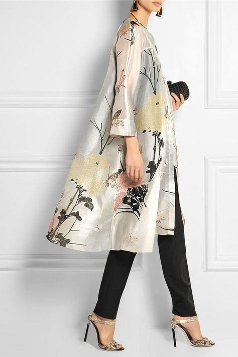 Discover thousands of images about BIYAN Aunne printed silk-organza dress