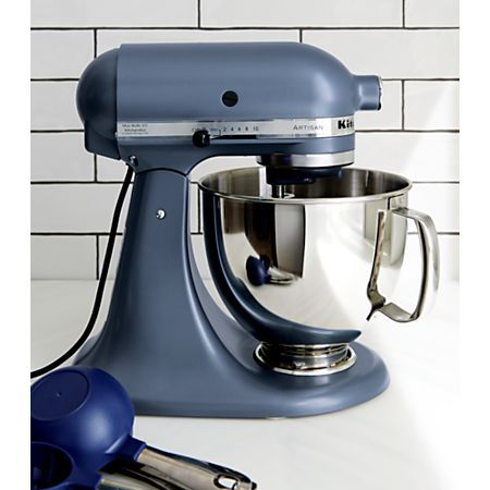 Kitchenaid Artisan Steel Blue Stand Mixer Reviews Crate And Barrel In 2020 Kitchen Aid Kitchenaid Artisan Kitchen Stand Mixer