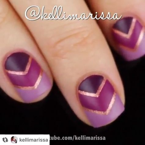 Would you try this easy & beautiful nail design? By: kellimarissa