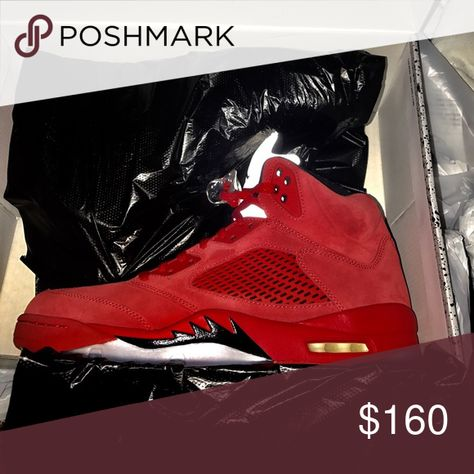 8093405c28921f Air Jordan 5 Never worn pair of Air jordan 5s red suede Jordan Shoes  Sneakers