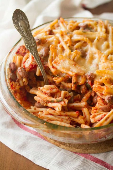 Sausage-Bean Pasta Bake: All you need to throw together this super-easy pasta bake is a handful of basic kitchen staples you probably already have in your pantry and fridge. It's the perfect solution to all your what-to-make-for-dinner dilemmas.