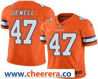 Men S Denver Broncos 47 Josey Jewell Orange 2016 Color Rush Stitched Nfl Nike Limited Jersey Nfl Jerseys Nfl Jersey