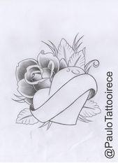 (Rose mit Herz) Elian ... - # Herz #Design # Herz Gekritzel ... - #design #elian #gekritzel - #ZeichnungenHerz