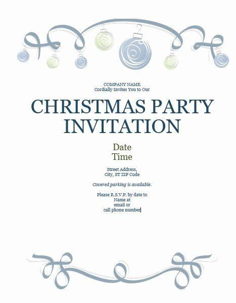 Ms Office Invitation Template Fice Holiday Party Invitation Template In 2020 Christmas Party Invitation Template Party Invite Template Office Holiday Party Invitation