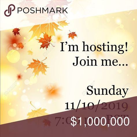 Sunday 11/10/2019 @ 7 pm PST I'm hosting my 2nd posh party on Sunday , November 10, 2019.  Join me and all my posh friends for a great evening of posh picks.  SHARE, SHARE, SHARE all the posh love! Dresses