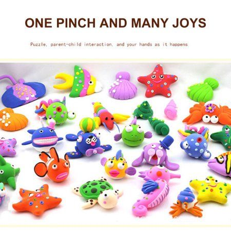 Ultra-light Plasticine Modeling Clay Artist Toy for Kids DIY Arts and Crafts