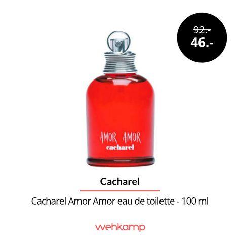 Cacharel Amor Amor eau de toilette - 100 mlis de geur van de liefde. De weelderige samenstelling ontvouwt haar magische aantrekkingskracht in de eerste paar seconden. De bedwelmende boodschap is: nu of nooit. De sensuele kenmerken komen voort uit vanille extracten, jasmijn en zwarte bes en zorgen voor een sensuele geur.