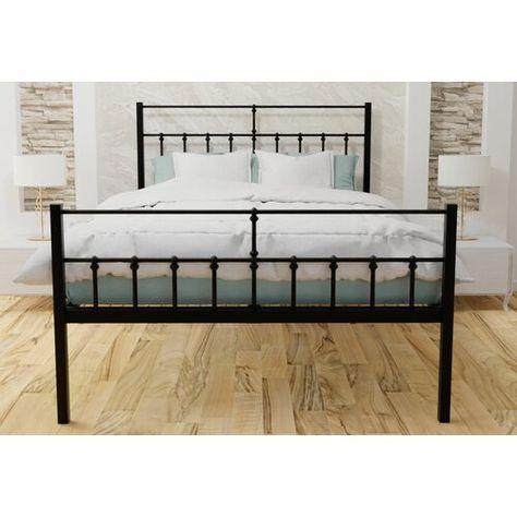 Metallbett Bursa Rosalind Wheeler Farbe Schwarz Grosse 180 X 200 Cm Bed Frame Bed Frame Design Bed