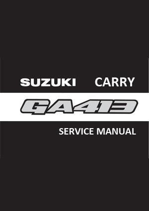 Suzuki Carry Ga413 And Ga413 4wd Van And Pick Up 1999 2004