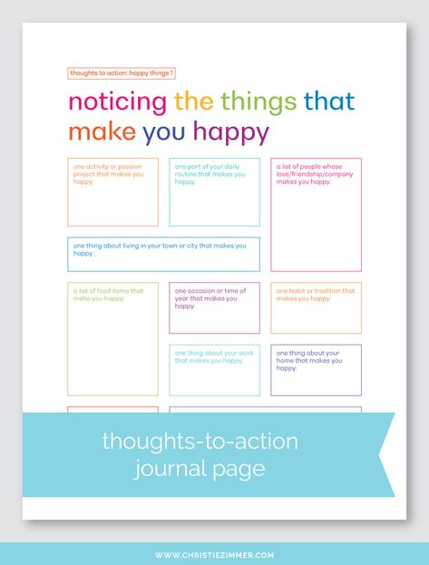 This is my first set in this series, so of course I started with happy things. From noticing the things that make you happy to understanding them to doing them more often, each page in this set is designed to help you transform your thoughts into action. Counseling Activities, Self Care Activities, Therapy Worksheets, Therapy Activities, Social Emotional Learning, Social Skills, Mindfulness For Kids, Therapy Tools, Journal Prompts