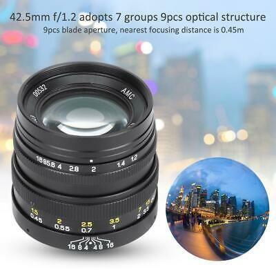 Zhongyi 42 5mm F1 2 Portrait Fixed Focus Lens For Olympus Camera Lenses Dslr Camera Pentax