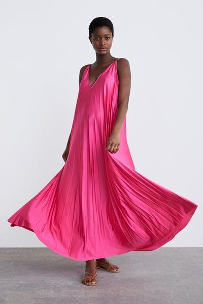 Imagen 1 de VESTIDO PLISADO de Zara | Vestidos plisados