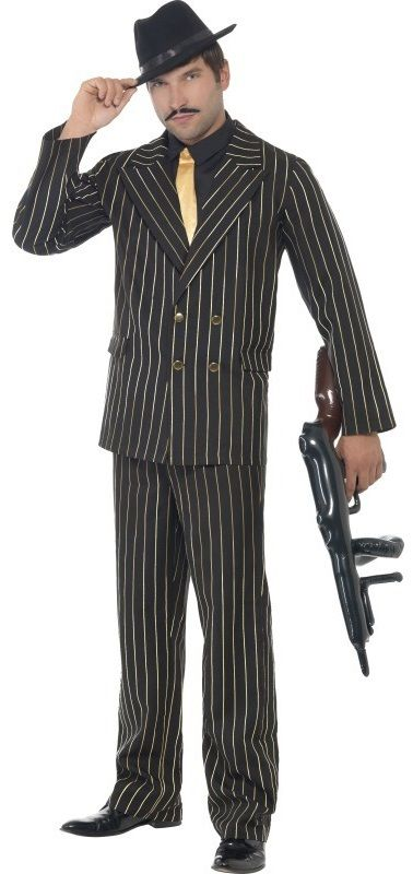 Gangster Flapper Peaky Blinders 1920/'s 30/'s Chicago Capone Fancy Dress Costume