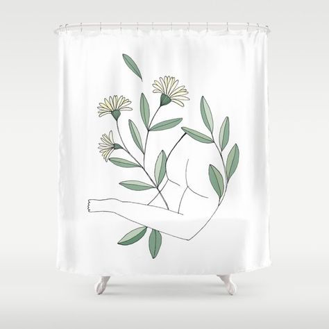 Eliane Berdat Shower Curtain From Society 6 Stop Neglecting Bathroom Decor Our Designer Shower Curtains Bring A Fresh New Feel To An Overlooked Space H