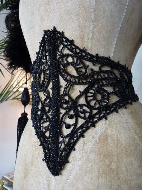 Every goth girl should have one.  Beaded Waistband, ca. 1895
