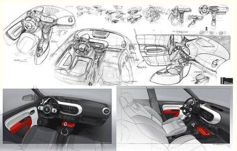 Renault Twingo 3 Interior Sketches By Designer Laurent Negroni