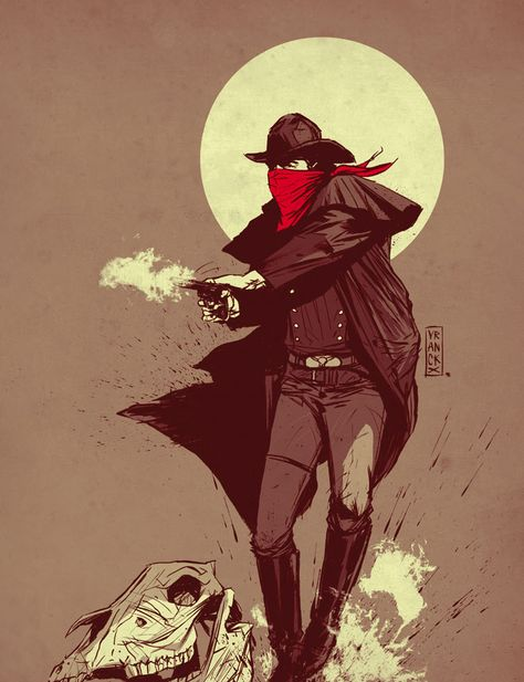Showcase of Wild West Themed Designs & Illustrations