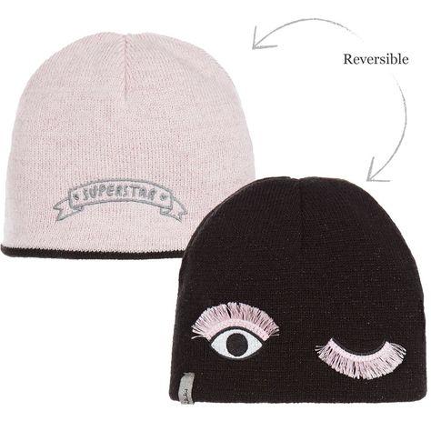 90f49ded59a IKKS Girls Knitted Reversible Hat at Childrensalon.com