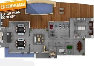 Morern 2d Floor Plan Commercial Cgi View In 2019 Floor Plans