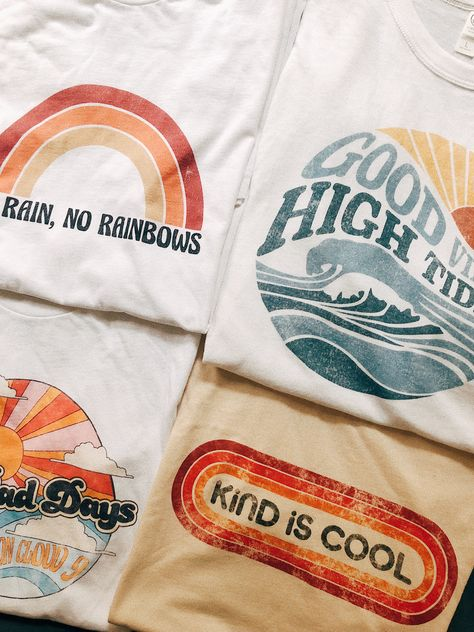 198565d24 Our newest collection of graphic tees! With distressed, vintage style  prints, these are your new go-to wardrobe staple. #graphictee  #vintagetshirt # ...