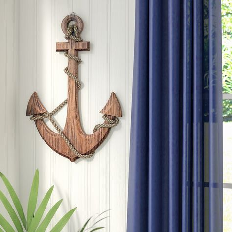 Longshore Tides Anchor Wooden Knot Board Wall Décor