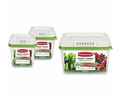 Rubbermaid Freshworks 17 3 Cup Large Produce Saver Green