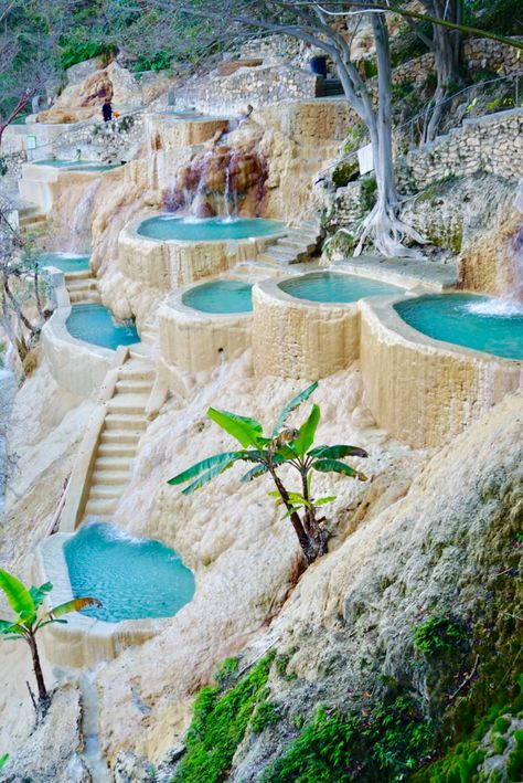 The Grutas Tolantongo hot springs is a hidden jungle paradise. Check out our Mexico travel guide for more info on visiting this location!