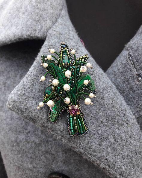 Брошь Цветы | Изделия  своими руками и Ремесла | Handmade Jewelry