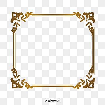 Luxury Gold Border Gold Clipart Luxurious Decorative Pattern Png Transparent Clipart Image And Psd File For Free Download Gold Clipart Floral Border Design Clip Art