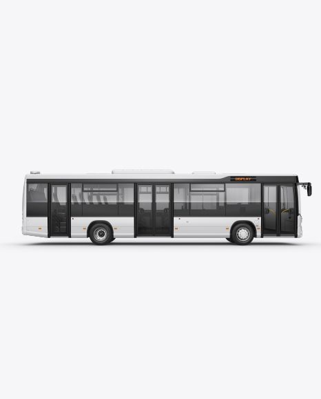 Download City Bus Hq Mockup Right Side View Object Mockups