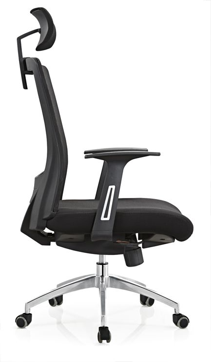 Made In China Factory Price Modern Black Mesh Manager Office Chair With Headrest Ergonomic Chair Chinese Office Chairs Computer Seating Leisure Chairs Manu