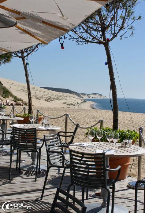 vue imprenable sur la Dune du Pyla de l'hôtel restaurant La Co(o)rniche