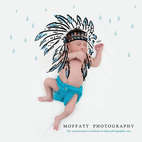 Indian Rain Dance, baby art.  By Moffatt Photography