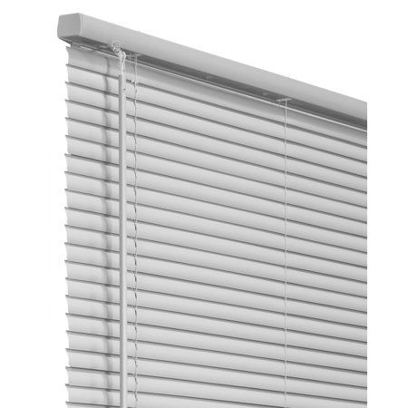 Chicology Cordless 1 Inch Vinyl Mini Blinds Size 72 Inch X 64 Inch Gray Vinyl Mini Blinds Blinds Mini Blinds