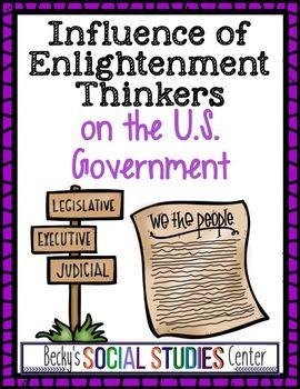 Foundations Of Government Enlightenment Locke Montesquieu And Rousseau Nonfiction Texts Enlightenment Social Studies Centers