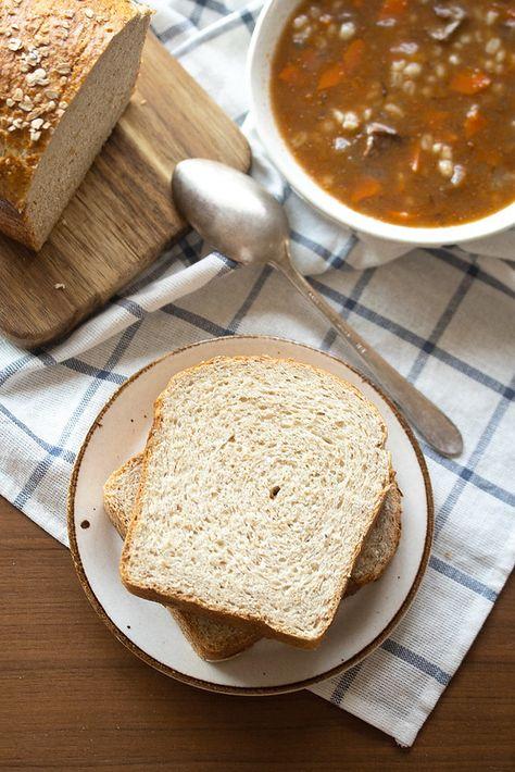 Whole Wheat Honey Oatmeal Bread | Crumb: A Food Blog